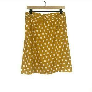 Tory Burch Nellie polka dot a line skirt